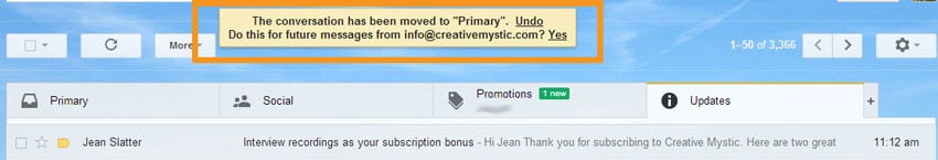 What to do for Gmail Users with info@creativemystic.com